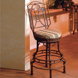 Regal Swivel Stool - Bago Luma - Muslin covered foam padded seat has swivel mechanism. Bago Luma uses over scaled materials and rustic finishing methods to produce this very casual yet elegant product line. Each piece is hand made and finished to order. Some customization is available.