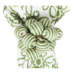 Juliska - Juliska Stripe Bead Bouquet Napkin Ring Pistachio - Juliska Stripe Bead Bouquet Napkin Ring PistachioA bangle, a bauble, and beads all wrapped into one, this burst of cheerful and chic Pistachio stripes is a wonderful way to pattern mix with your napkins and settings. Dimensions: 3'L