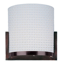ET2 - ET2 E95188-100 2 Light Up Lighting Wall Sconce Elements Collection - Contemporary / Modern 2 Light Up Lighting Wall Sconce from the Elements CollectionThe Elements Collection offers the freedom of choice in lighting design. Start with the style selection: pendant, mini pendant, or wall sconce; then choose the right shape, square or circular, for the space. Wrap the lamp in one of four fabrics that will make just the right statement: Grass Cloth, White Weave, White Pleat, or Crimson. Finally, choose the perfect light source for the task. Whether fluorescent, xenon, or incandescent, this collection brings together all the right elements.Features: