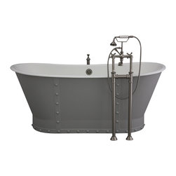 "Penhaglion - 'The Langdon' 68"" Long Cast Iron Bathtub Package from Penhaglion - Product Details"