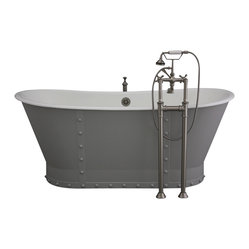 "The Langdon 68"" Long Cast Iron Bathtub Package from Penhaglion"