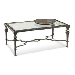 Basett Mirror - Lido Rectangle Cocktail Table - The Lido Rectangle Cocktail Table (Wrought Iron Finish) has the following features: