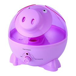 Sunpentown - Pig Ultrasonic Humidifier - Help your little ones breathe easier by adding moisture to the air with our adorable Pig-shaped humidifier. Provides year-round relief from the drying effects of AC and Heater. Features super-quiet operation, 1-gallon tank capacity and auto shut-off protection (with no audible alarm) - the perfect addition to any child's room.