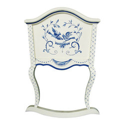 Furniture Bluebird Cradle - This hand-crafted cradle is a piece that will be enjoyed for generations. Adding a sweet English detail to a nursery, master bedroom, or any room in the house, I love this piece for its subtle detail.