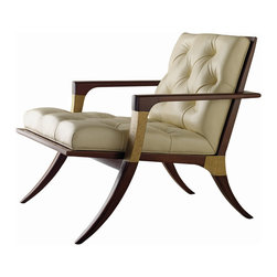 """Athens Lounge Chair - Tufted - Baker Furniture - The Athens Chair was a Finalist in the Interior Design """"Best of Year"""" Awards!"""