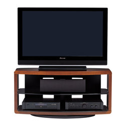 BDI - Valera TV Stand 9724 - Become your very own media mogul with this TV stand. It has a sleek, efficient design — with an adjustable tempered glass shelf — that provides space for all your components.