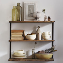 L-Beam Wall Shelf - I'm a girl who likes tchotchkes as well as order. A beautiful but functional wall shelving unit is like a dream come true for the two opposing sides of my personality.