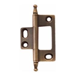 Hafele - Hafele Butt Hinge Non-Mortised Minaret Finial Brass 50X37mm  Brass - Hafele But Hinge Non-Mortised Minaret Finial Brass 50X37mm  Brass