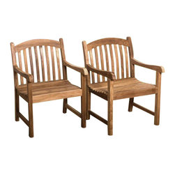 International Home Miami Corp - International Home Miami Amazonia Teak Set of 2 Folding Armchair - International Home Miami Corp - Outdoor Chairs - SC Yogyaarm_Set - Sleek and comfortable this pair of London folding armchairs is a must have for the outdoors. The plantation grown teak wood structure of the set can be maintained with a supreme quality Ferons wood preservative that comes along with it and accentuates its quality and longevity. These chairs are sure to add a charming and relaxing touch to your patio.