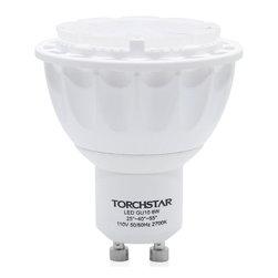 TorchStar - 110V 6W GU10 LED Bulb Beam Angle Adjustable LED Spotlight (25° 40° 55°) , Warm W - 110V 6W GU10 LED Bulb - Beam Angle Adjustable LED Spotlight (25° 40° 55°) - 2700K Warm White GU10 Base SHARP LED Chip for Home, Recessed, Accent, Landsacpe, Track Lighting