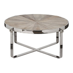 Go Home - Beckett Coffee Table - Beckett Coffee Table is a classy piece has a round top. A timeless classic that will enhance with any decor for years to come.This is perfect compliment for your home.