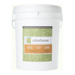 Inspired Flat Interior Paint, Imagine .02, 5-Gallon - Colorhouse paints are zero VOC, low-odor, Green Wise Gold certified and have superior coverage and durability. Our artist-crafted colors are designed to be easy backdrops for living. Colorhouse paints are 100% acrylic with no VOCs (volatile organic compounds), no toxic fumes/HAPs-free, no reproductive toxins, and no chemical solvents.