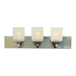 "Trans Globe Lighting - Trans Globe Lighting 2803 Three Up Down Lighting 24"" Wide Bathroom Fixture - *Three light up lighting bathroom fixture featuring frosted glass"