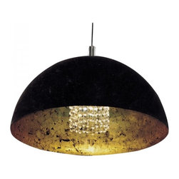 Black Bowl Shape Crystals Pendant Lighting - Add warmth to your home by hanging this Black Bowl Shape Crystals Pendant Lighting over your dining room table, your kitchen bar, your family or your children's bedroom.Once you hang this lamp, you'll start critiquing every other lighting fixture in the house. The light's unique design will change the way you think about illuminating a room.