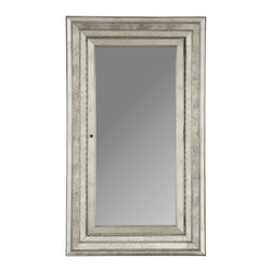 Horchow - Glam Floor Mirror - It would be enough if this gorgeous piece were just a mirror, but it's so much more. Hidden behind the beveled mirror glass is a large compartment where you can store small treasures or valuables.
