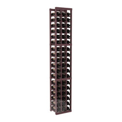 3 Column Standard Cellar Kit in Pine with Burgundy Stain + Satin Finish - Each wine cellar rack meets Wine Racks America's unparalleled fabrication standards. Modular engineering provides universal kit compatibility which enables connoisseurs to mix and match wine rack kits until you achieve a personally-defined wine bottle storage system.