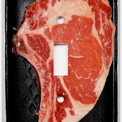 Raw Steak Light Switch Plate Cover by abethepunk on Etsy - I'm a fan of anything with a little bit of kitsch—and this light switch might be the definition of that genre. Just a slab of meat on a bit of styrofoam, it's bound to bring a laugh to carnivores and vegetarians alike when they light up your kitchen.