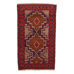 eSaleRugs - 3' 10 x 6' 3 Balouch Persian Rug - SKU: 22148244 - Hand Knotted Balouch rug. Made of 100% Wool. Brand New.