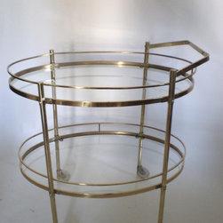 Green Zebre Inventory - Brass and Glass bar cart