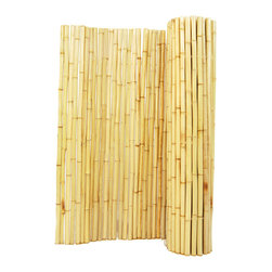 "Natural Rolled Bamboo Fence 1"" D X 4' H X 6' L - Natural Rolled Bamboo Fence 1"" D X 4' H X 6' L"