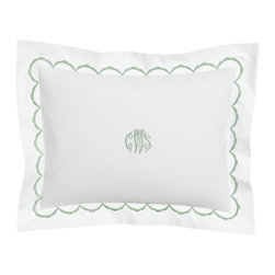 Matouk - Embroidered Percale Breakfast Sham Personalized - WHITE/GOLD - MatoukEmbroidered Percale Breakfast Sham PersonalizedDetailsMade of 350-thread-count combed cotton.Machine wash.Three-initial personalization in style shown will match embroidery color.Made in the USA.Designer About Matouk:The son of a jeweler John Matouk understood the principles of fine workmanship and quality materials. After studying fine fabrics in Italy he founded Matouk in 1929 as a source for fine bed and bath linens. Today the third generation of the Matouk family guides the company whose headquarters were relocated to the United States from Europe during World War II. Matouk linens are prized worldwide for their uncompromising quality and hand-finished detailing by skilled craftsmen.