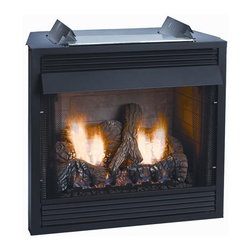 """Empire - Deluxe 36"""" Vent-Free Firebox - Louver - Do you have a masonry fireplace that is not very nice to look at and you want to make a drastic change? You do not have to completely remodel your existing fireplace. This Breckenridge deluxe louvered gas firebox insert is an easy solution to your problem. It is very inexpensive and you do not even have to have an existing fireplace to use this, although that is possible as well. You can get this insert and choose from a number of frames or mantels that will fit your specific room decor. There is absolutely no ventilation needed. You will need gas logs to use with this 36in. firebox."""