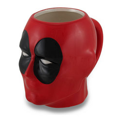 Zeckos - Marvel Comics Deadpool Ceramic Coffee/Tea Mug - Deadpool fans, raise your glass (or, mug) to one of the mightiest mercenaries with this awesomely villainous mug Have a drink with Wade Winston Wilson while sipping your morning coffee, afternoon tea or hot chocolate on a snowy day, if only in your imagination This ceramic 4.75 inch high, 6 inch long, 3.75 inch wide (12 X 15 X 10 cm) officially licensed marvel comics character mug features a glossy finish in characteristic red and black, is recommended to hand wash only to keep it looking great, and suggested for those 12 years and older. It's perfect as a gift for the comic book character loving person in your life sure to be enjoyed