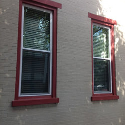 Double Hung Custom Replacement Window Project Lancaster PA - Custom color exterior to blend in with existing  1900 home in Lancaster City.