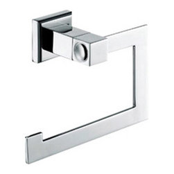 Italia - Italia Roma Series Chrome Paper Holder - Enhance your bathroom decor with this high quality Roma toilet paper holder by Italia. Finished in a sleek chrome,this stainless steel tissue holder is easy to install and is sure to bring European flair to your home.