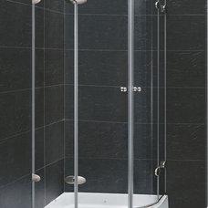 Modern Showerheads And Body Sprays VIGO VG6021CHCL36 Neo-Round Shower