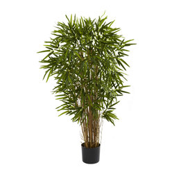 """Nearly Natural - Nearly Natural 4' Twiggy Bamboo Tree - Bursting with life, this twiggy bamboo tree will beautify any home or office area. Standing 48"""" high (that's four feet of bamboo beauty), it sports 17 trunks and more than 1150 individual leaves, giving a full, lively appearance that will last for years (without water and sun no less). It's ideal for corners, as an entry accent, or anywhere else you want add some natural beauty. Makes a great gift as well."""
