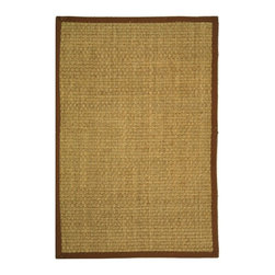 Safavieh - Safavieh Natural Fiber Casual Rug X-412-B411FN - Hand-woven with natural sea grass, this casual area rug is innately soft and durable. This densely woven rug will add a warm accent and feel to any home. The 100-percent Cotton canvas backing adds durability.