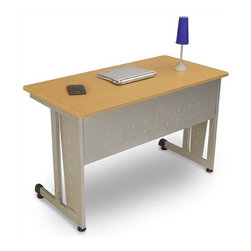 OFM - Computer/Privacy Station - A modern looking and incredibly strong modular computer desk, this unit goes together in a snap with no tools required! Standard features include an underside modesty panel, adjustable glides and a cable management system. Available options include back and side privacy panels, a CPU holder and a pullout keyboard (all sold separately). Features: -Connecting Models: 55103, 55150, 55151, 55CAS, 55CPU, 55KBS.-Durable steel base and frame.-Graphite has T-mold edge banding.-Maple has self banding.-48'' x 24'' tabletop.-Dimensions (H x W x D) 29.5'' x 48'' x 24''.-Scratch resistant powder coated paint finish.-Distressed: No.Dimensions: -Overall Product Weight: 56 lbs.Assembly: -''Quick Connect'' assembly - no tools required.
