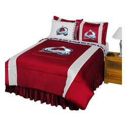 Store51 LLC - NHL Colorado Avalanche Bedding Set Hockey Bed, Queen - Features: