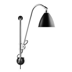 Bestlite - Bestlite BL5 Wall Lamp, Black - Robert Dudley Best drew the first drafts of the lamp that would later become synonymous with his name when he studied to become an industrial designer in Paris and Dsseldorf. As the lamp was the first example of Bauhaus in the UK, strong arguments were needed before the lamp could be put into production. The lamp was produced by the manufacturing firm Best & Lloyd, founded by Best's family in 1840. After mention in the prominent architectural magazine Architects' Journal, the architectural community opened its eyes to the lamp's potential. Bestlite gained everlasting fame when Winston Churchill placed one on his desk in Whitehall.