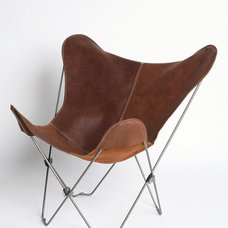 UO Lux Leather Butterfly Chair - Urban Outfitters