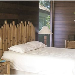 Hospitality Rattan Havana Headboard - Natural Bamboo - Easily bring the warm serenity of the tropics home with you with the Hospitality Rattan Havana Headboard - Natural Bamboo. Crafted with durable, all natural round bamboo poles of varied heights, this striking headboard is an instant centerpiece to any bedroom. A renewable resource, bamboo is environmentally friendly - as are the natural finishes and construction techniques used by Hospitality Rattan. Twin, queen, and king sizes available. Arrives fully assembled. May develop natural cracks over time.DimensionsTwin: 42W x 3D x 60H inchesQueen: 65W x 3D x 60H inchesKing: 80W x 3D x 60H inchesAbout Hospitality RattanHospitality Rattan has been a leading manufacturer and distributor of contract quality rattan, wicker, and bamboo furnishings since 2000. The company's product lines have become dominant in the Casual Rattan, Wicker, and Outdoor Markets because of their quality construction, variety, and attractive design. Designed for buyers who appreciate upscale furniture with a tropical feel, Hospitality Rattan offers a range of indoor and outdoor collections featuring all-aluminum frames woven with Viro or Rehau synthetic wicker fiber that will not fade or crack when subjected to the elements. Hospitality Rattan furniture is manufactured to hospitality specifications and quality standards, which exceed the standards for residential use.