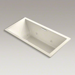 """KOHLER - KOHLER Underscore(R) 72"""" x 36"""" drop-in whirlpool with heater without jet trim an - Undermount installation is what drives today's contemporary trends, with the increased use of natural materials in the bathroom. The Undercore bath's simple, crisp design lines perfectly complement granite, stone or tile."""