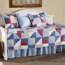 Eddie Bauer - Cheylon Daybed Set - Make any bedroom more inviting with this warm and bright daybed set. The incredibly chic design will give a guest room or office's décor a boost or make a living room even more comfortable.   Includes cover, bed skirt and three shams Cotton Machine wash Imported