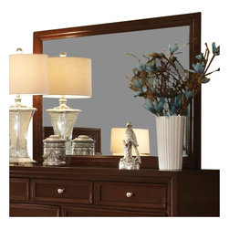 "Coaster - Coaster Nortin Landscape Mirror in Dark Cherry - Coaster - Mirrors - 202194 - You'll be set with this landscape mirror in your bedroom. The piece carries dark cherry finished frame and can be placed both vertically as well as horizontally allowing for multiple decorating options. Provide your bedroom with the perfect accent with help from this beautiful mirror.Frame Material: WoodFinish & Paint: Dark Cherry finishStyle: TransitionalMirror Type: Landscape MirrorSpecifications:Overall Product Dimensions: 34.75"" H x 48"" W x 1"" D Weight: 34.17 lbs."