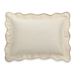Barbara Barry - Barbara Barry Peaceful Pique Oblong Toss Pillow in Moonglow - Finish off your tranquil bedroom sanctuary with this Peaceful Pique oblong toss pillow, designed to coordinate perfectly with the duvet cover ensemble.