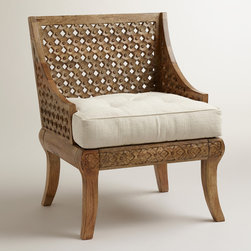 Tribal Carved Chair - I would love to add these beauties to my dining room table. They would add so much depth and comfort to the room.