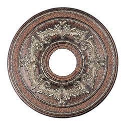 Livex - Livex Ceiling Medallions Ceiling Medallion 8205-64 - Finish: Palacial Bronze with Gilded Accents