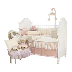 Glenna Jean - Love Letters Crib Bedding Set 4-Piece Set - The Love Letters Crib Bedding Set by Glenna Jean is available as a 3-Piece, 4-Piece, or 5-piece set.