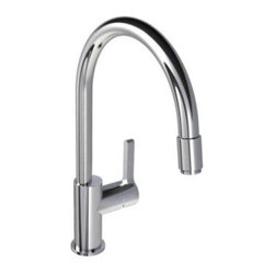 Lefroy_Brooks - Lefroy Brooks - Kafka 1 Lever Kitchen Mixer W/Pull Out Hose-K1-3400-CP - Polished Chrome Finish