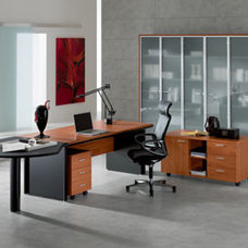 Modern Desks And Hutches Kim Executive Shaped Desk By DV Office