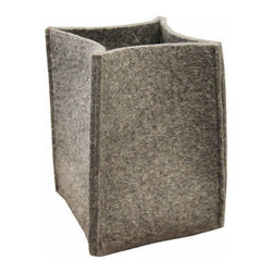 The Felt Store - Felt Storage Basket - This small storage basket is made of gray industrial felt, and is sturdy and strong. Keep pens, small plants, notepads, keys, sunglasses, just about anything in this small basket. The basket has a 6 inches square base, and walls that are 8 inches high.