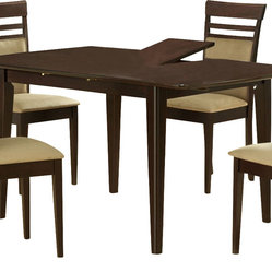 Monarch Specialties 48x36 Dining Table w/ 12 Inch Butterfly Leaf