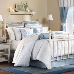 Harbor House - Harbor House Crystal Beach Comforter Set - This beautifully designed bedding creates a serene environment in your bedroom with seaside-inspired images and soothing colors.