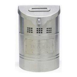 Ecco Stainless Steel Mailbox - Really contemporary Ecco stainless steel wall mount mailbox.
